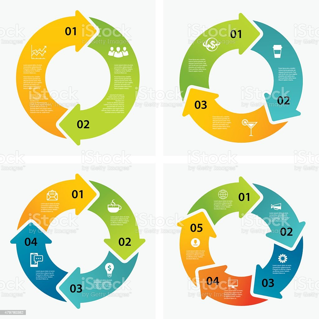 set of infographic templates vector art illustration