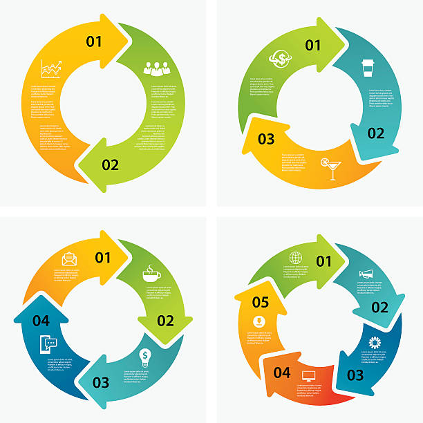 zestaw infographic szablony - rower stock illustrations