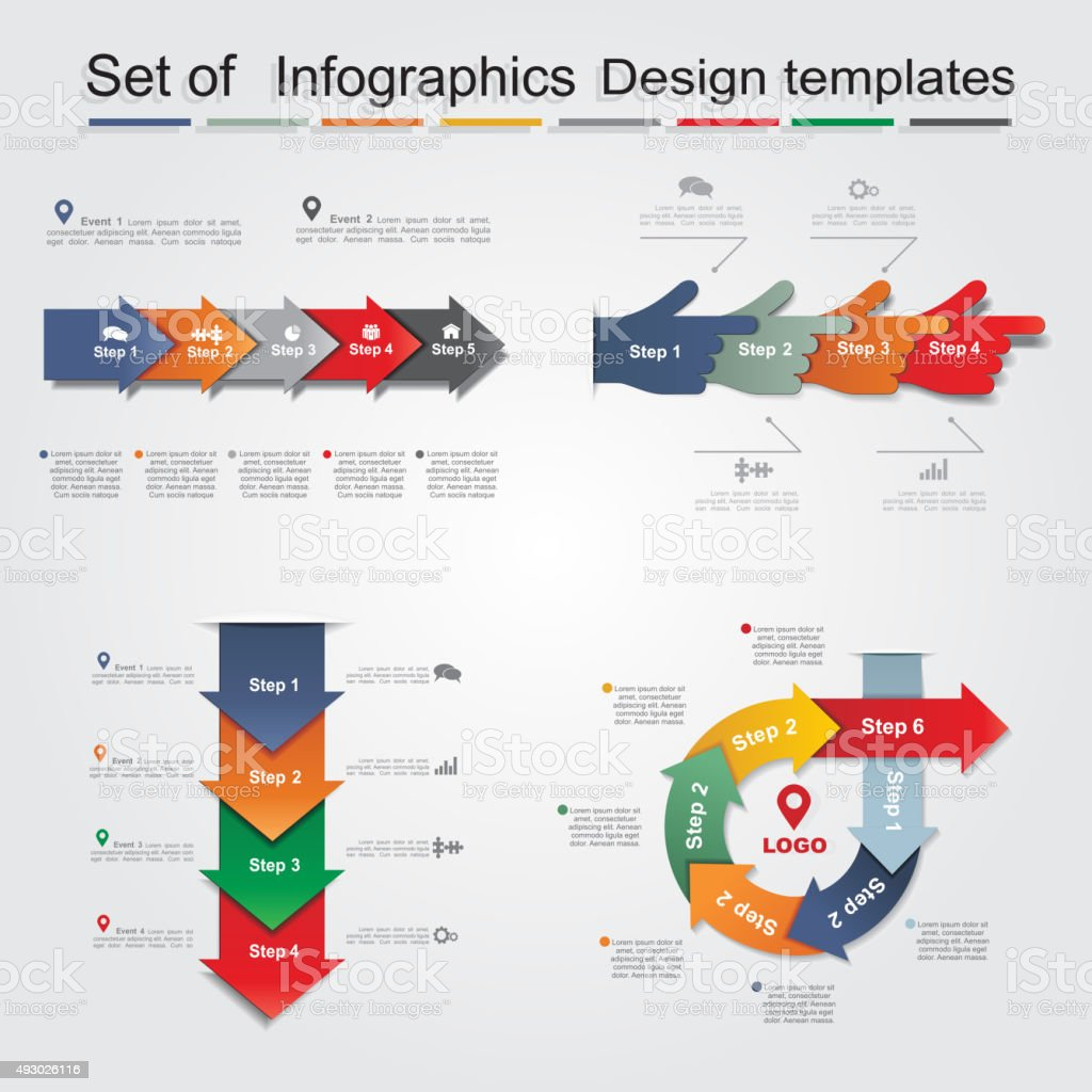 Set of infographics design templates. Vector illustration royalty-free stock vector art