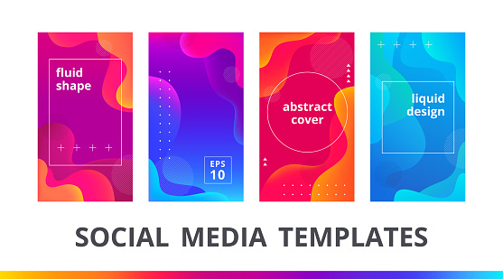 Set of instagram stories frame and post editable templates.