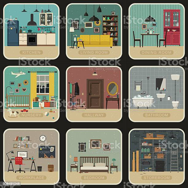 Set of interior rooms vector id508491048?b=1&k=6&m=508491048&s=612x612&h=cf9vvks0y25 tkeyuw6vfx15fi5aunj uxuxk8qfslm=
