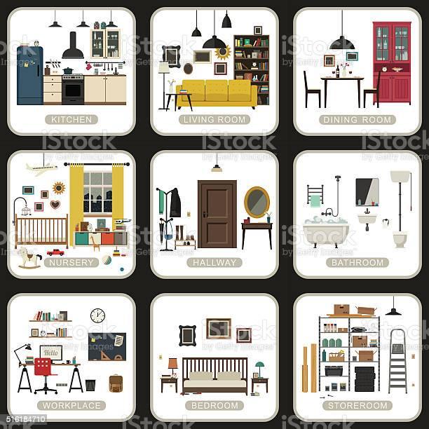 Set of interior rooms vector id516184710?b=1&k=6&m=516184710&s=612x612&h=ob45hnxtzxzxvtfjtscwo57twr6gkst1w5z2p6b3xsu=