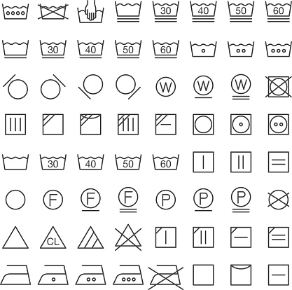 Set of International Laundry Symbols