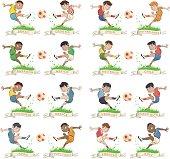set of international soccer boys