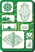 set of Islamic symbols