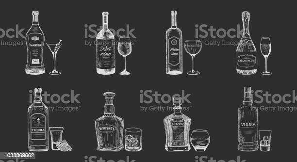 Set of isolated alcohol beverages bottles sketch vector id1038869662?b=1&k=6&m=1038869662&s=612x612&h=c7mktoc sqcemh3qvwpe3ax eltw1amgpzta9od3hue=