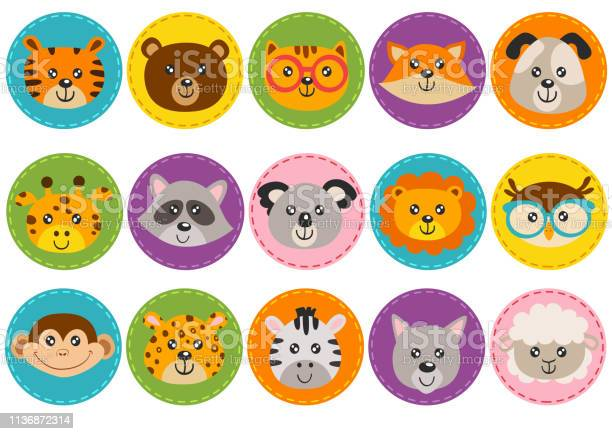 Set of isolated cute animal heads in circle vector id1136872314?b=1&k=6&m=1136872314&s=612x612&h=foqyja tdtybxkikrgg07 vu31ikoifjgbmnc88ee0s=