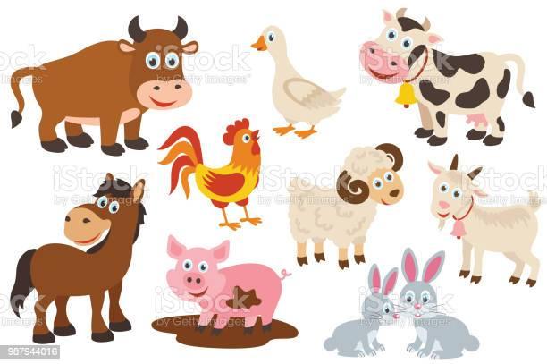 Set of isolated farm animals vector id987944016?b=1&k=6&m=987944016&s=612x612&h=oludenqbz bfps q5cjhsresuwnwzxay1dnwxipqsdq=