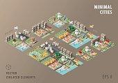 Set of Isolated Isometric Minimal City Maps. Elements.