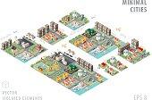 Set of Isolated Isometric Minimal City Maps.