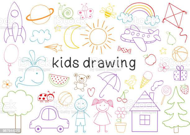 Set of isolated kids drawing vector id987944070?b=1&k=6&m=987944070&s=612x612&h=n3gctls0mw5z8drmxu0ook6rdgm3fjf74ibe35ndh8u=