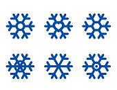 set of isolated snowflake icon