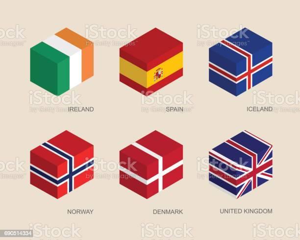 아이소메트릭 3d 상자 세트 3차원 형태에 대한 스톡 벡터 아트 및 기타 이미지