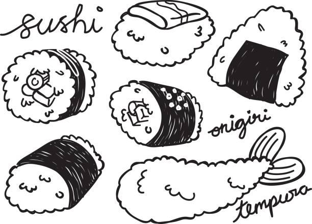 日本食のセット - 和食点のイラスト素材/クリップアート素材/マンガ素材/アイコン素材