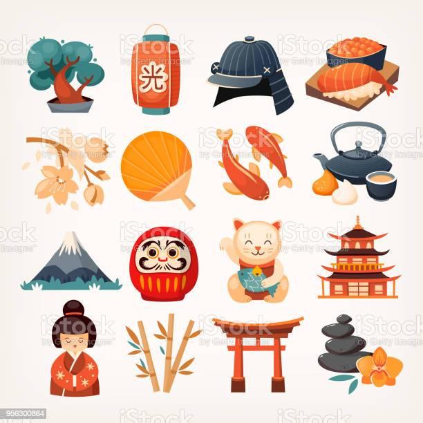 Set of japanese travel icons vector id956300864?b=1&k=6&m=956300864&s=612x612&h=jqepybofy7psninhfuivcjhxjlwv9bjiiwex8jv0vd0=