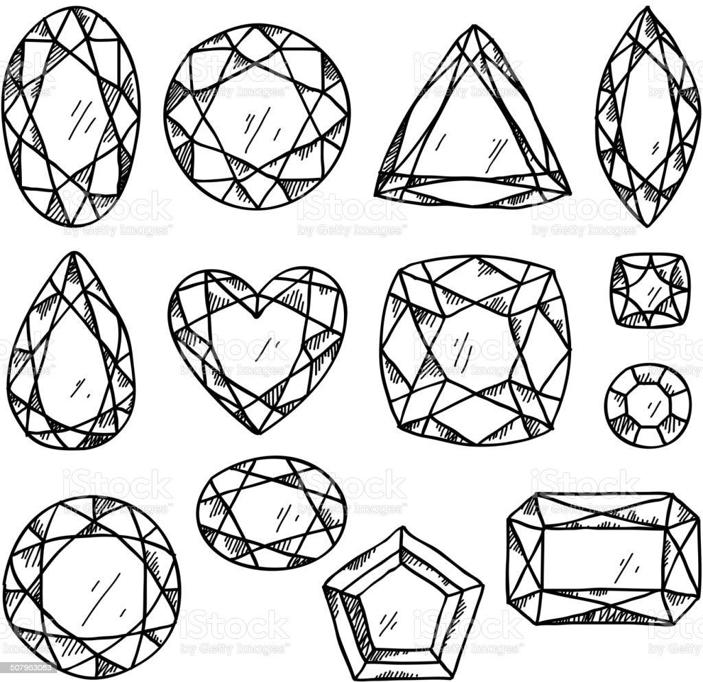 Top Conjunto De Joias Mão Desenhadas Pedras Preciosas Estilo De  QA62