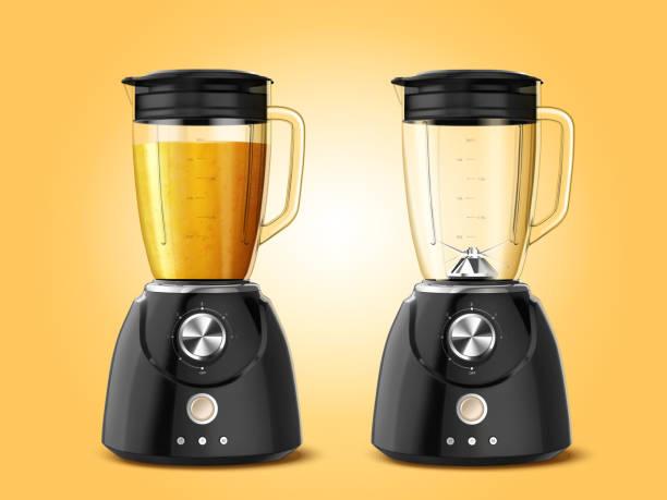 stockillustraties, clipart, cartoons en iconen met set juicer blender toestellen - mixer