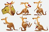 Set of Kangaroos