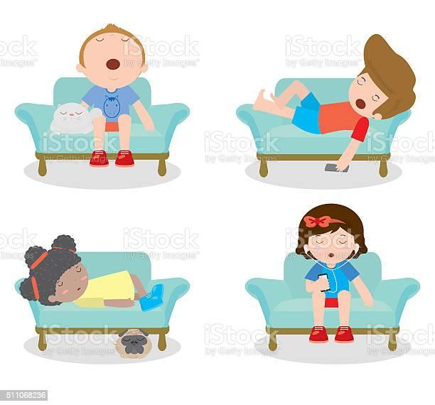 Set of kid sleeping on sofa at home vector id511068236?b=1&k=6&m=511068236&s=612x612&h=hfgcrnj5q14npykgeo3hz78v5o1ckexnzm99plvvepk=