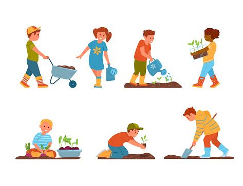 Set Of Kids Gardening