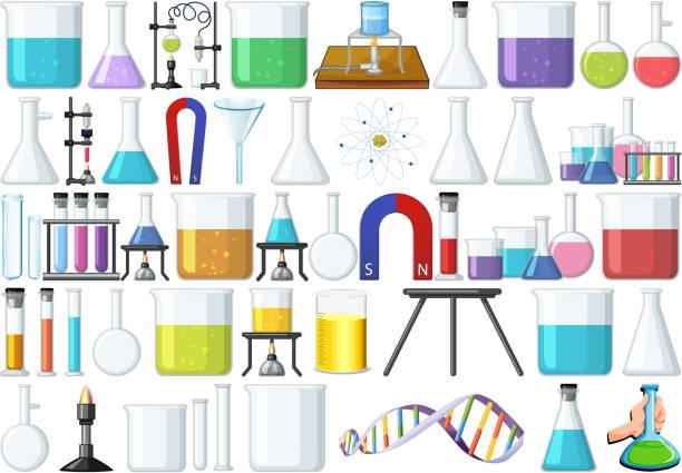 Reihe von Laborwerkzeugen – Vektorgrafik