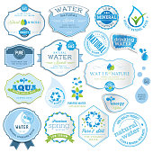 Set of vector labels and stickers