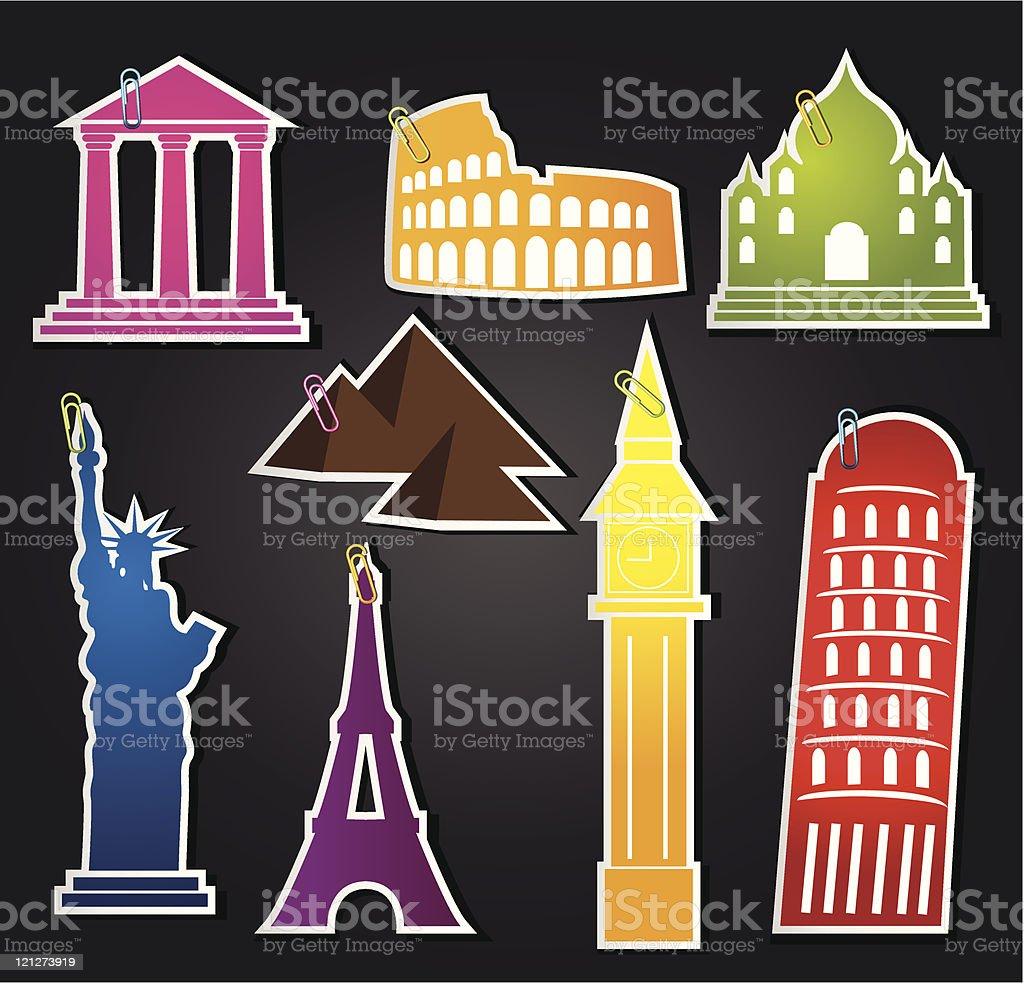set of  labels for travel to royalty-free stock vector art
