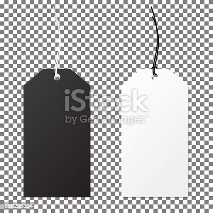 istock Set of labels paper price tags. Template for your desing. 668296304