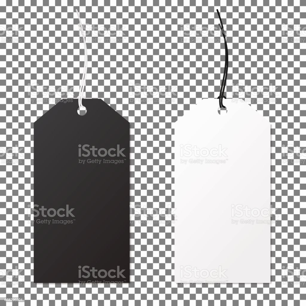 Set of labels paper price tags. Template for your desing. vector art illustration