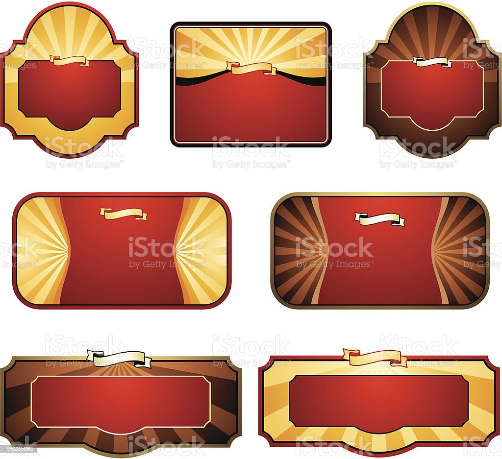 set of labels royalty-free set of labels stock vector art & more images of award