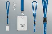 Set of lanyard and badge.