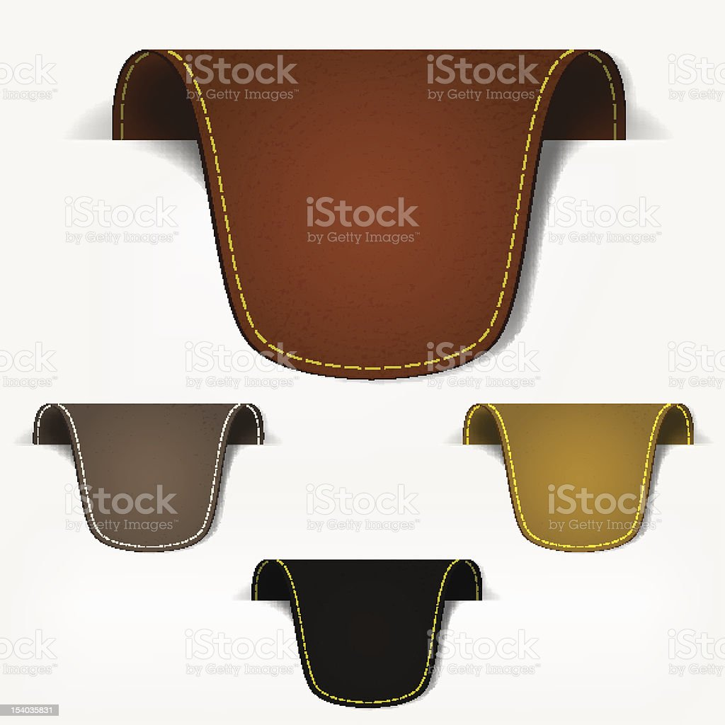 Set of leather tag labels royalty-free set of leather tag labels stock vector art & more images of advertisement