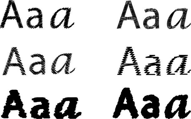 Conjunto de letra A, - ilustración de arte vectorial
