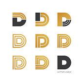Set of letter D logo design