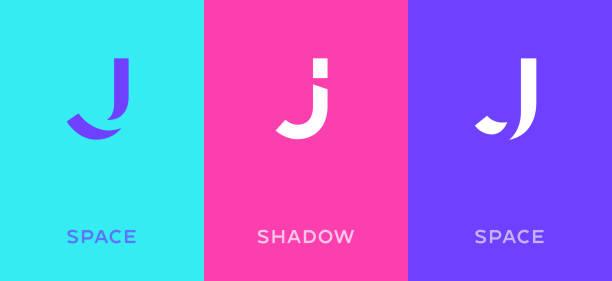 Set of letter J minimal logo icon design template elements Set of letter J minimal logo icon design template elements letter j stock illustrations