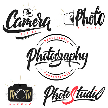 Set of lettering and calligraphy for photothemes.
