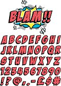 Cartoon font for spelling out all your favorite exclamations!