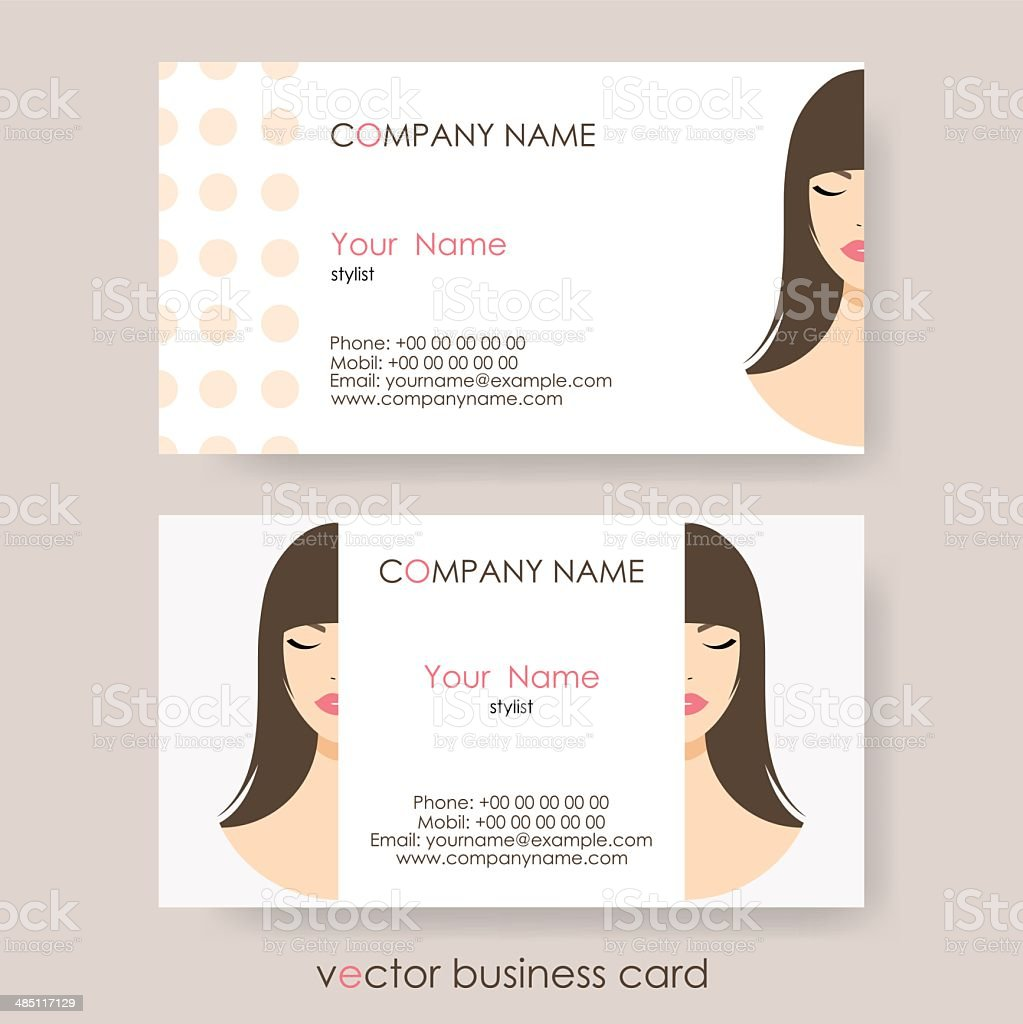 Set Of Light Cosmetic Business Cards On Grey Background Stock Vector