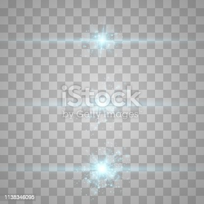 Set of Vector Light Effects. Glowing light explodes on a transparent background.Bright Star. Special line flare light effects for design and decor