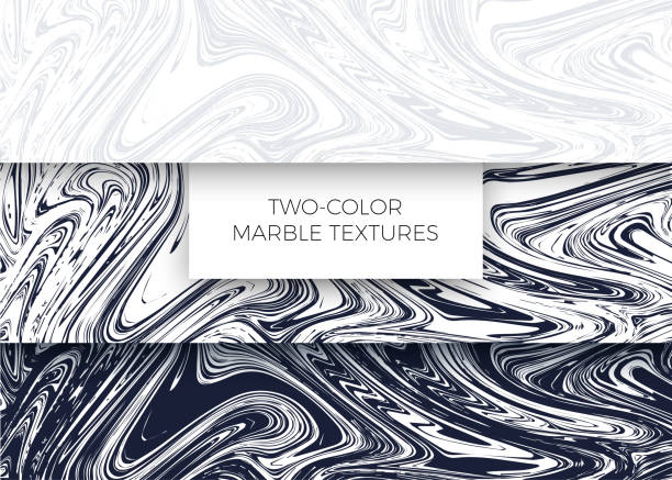 bildbanksillustrationer, clip art samt tecknat material och ikoner med uppsättning ljus grå och mörk blå marmor texturer. vektor bakgrunder - marble