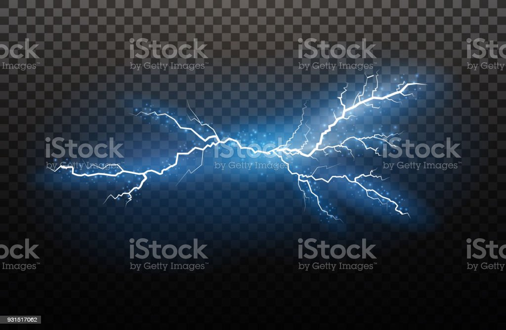 A set of lightning Magic and bright light effects. Vector illustration. Discharge electric current. Charge current. Natural phenomena. Energy effect illustration. Bright light flare and sparks royalty-free a set of lightning magic and bright light effects vector illustration discharge electric current charge current natural phenomena energy effect illustration bright light flare and sparks stock illustration - download image now