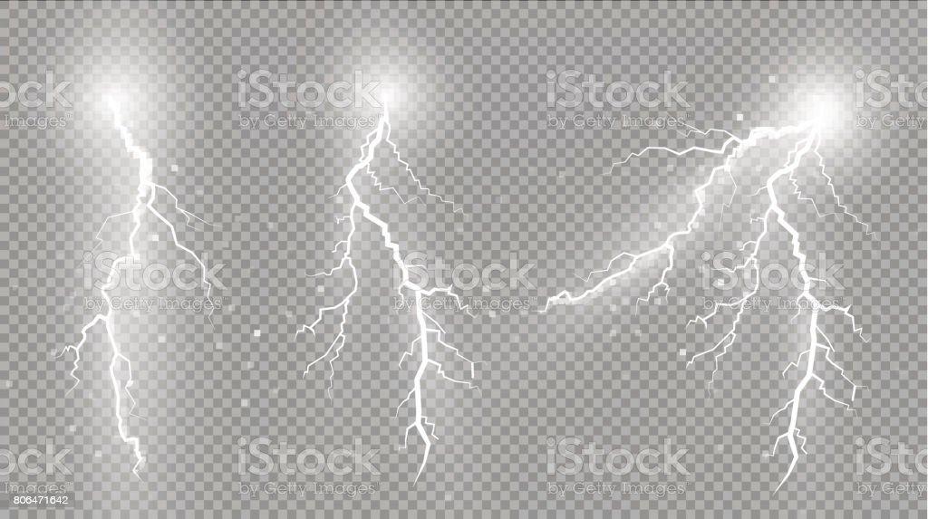 Ensemble d'éclairs. Effets de lumière magique et lumineux ensemble déclairs effets de lumière magique et lumineux vecteurs libres de droits et plus d'images vectorielles de abstrait libre de droits