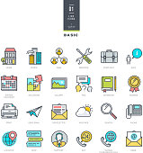 Set of line color icons