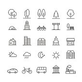 Thin icons for web, moblile, print design