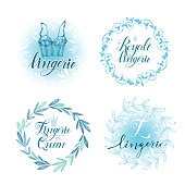 Set of emblems woman lingerie theme.  Perfect vector backgrounds for your internet business