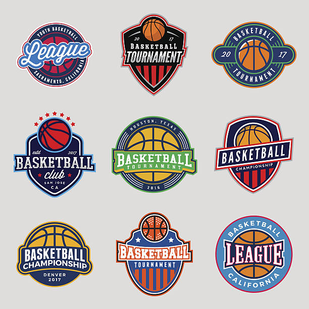 set of logos for basketball game events – Vektorgrafik