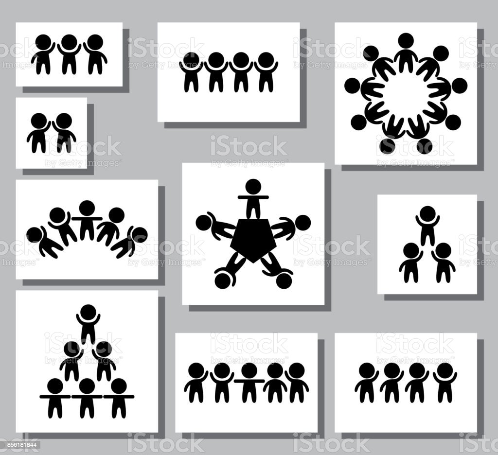 Set of logos icons of stylized figure of man creative teamwork set of logos icons of stylized figure of man creative teamwork logo design biocorpaavc Gallery