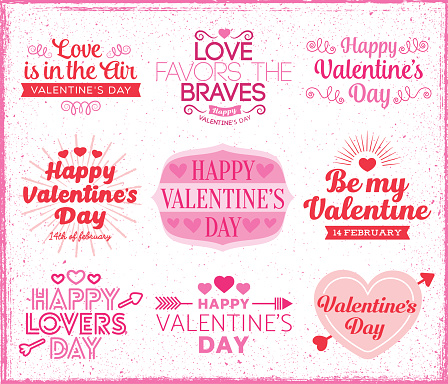 Set of love and valentine's day labels