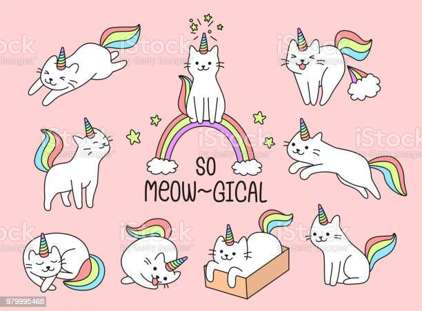 Set of lovely cat unicorn vector id979995468?b=1&k=6&m=979995468&s=612x612&h=5mduxxqu3wzaol8xn4 vjnk ngtfbvcab2yozjofkmk=