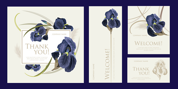 A set of luxury cards with the words of gratitude